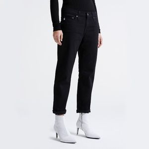 AG Jeans The Ex-Boyfriend Slouchy Slim Black Jeans